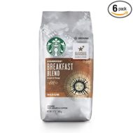 Starbucks Breakfast Blend Medium Roast Ground Coffee, 12 Ounce (Pack of 6)
