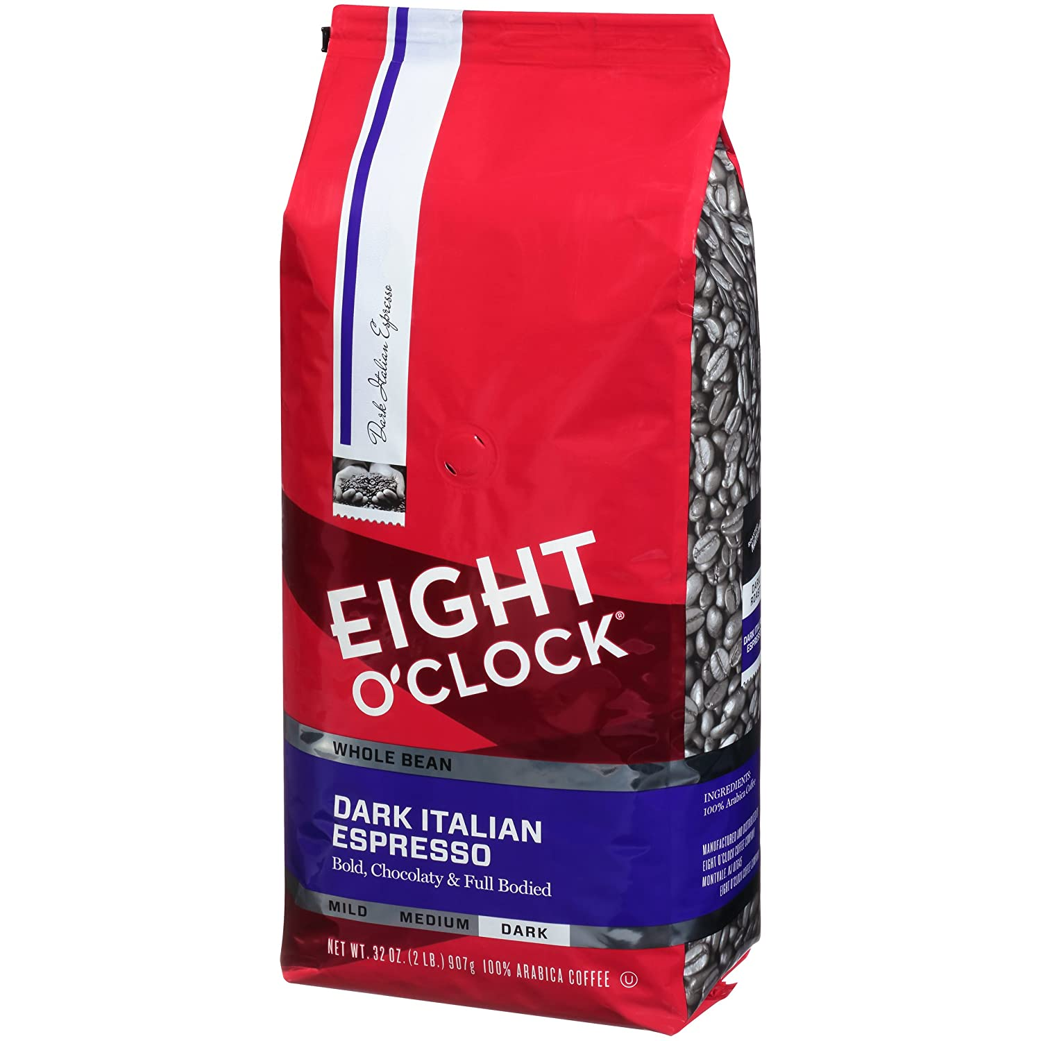 Eight O'Clock Whole Bean Coffee, Dark Italian Espresso, 32 Ounce